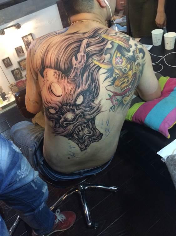 gif快手白鹤纹身图片