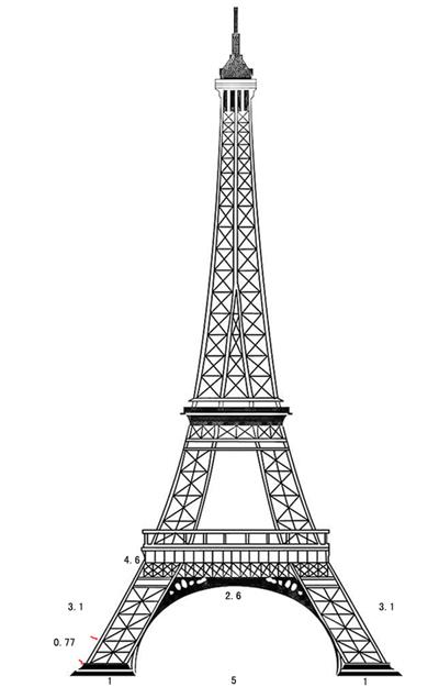 在线制作竹签埃菲尔铁塔,请各位光临指导图片