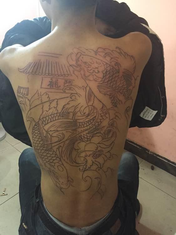 鲤鱼越龙门纹身图片_鲤鱼越龙门纹身图片分享图片