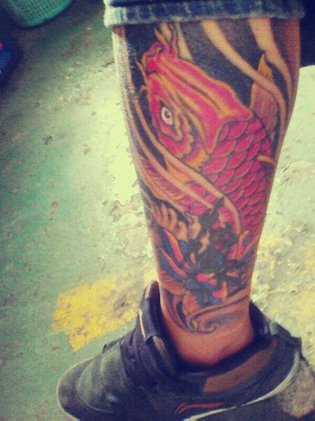 标签:背部纹身鲤鱼纹身图片
