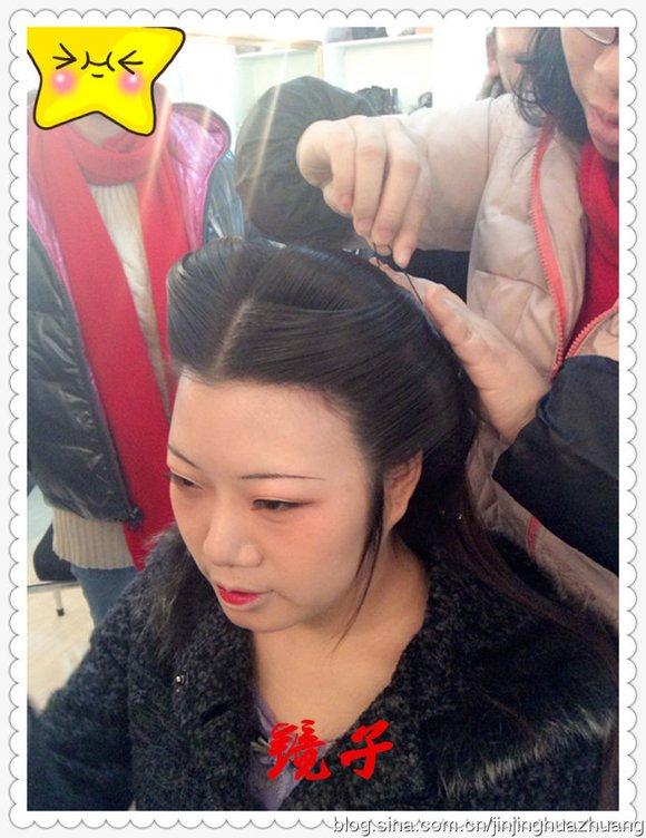 【教程】新派工笔仕女画风格造型(灵蛇髻)_古装发型吧图片