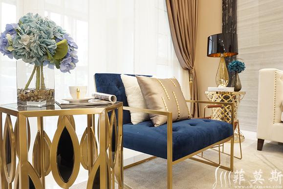 现代轻奢风格别墅软装案例分享图片