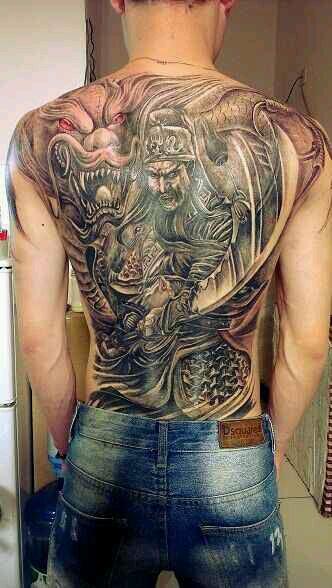 背关公降龙纹身有什么问题吗 有什么讲究 懂的人和我讲下 谢谢了图片
