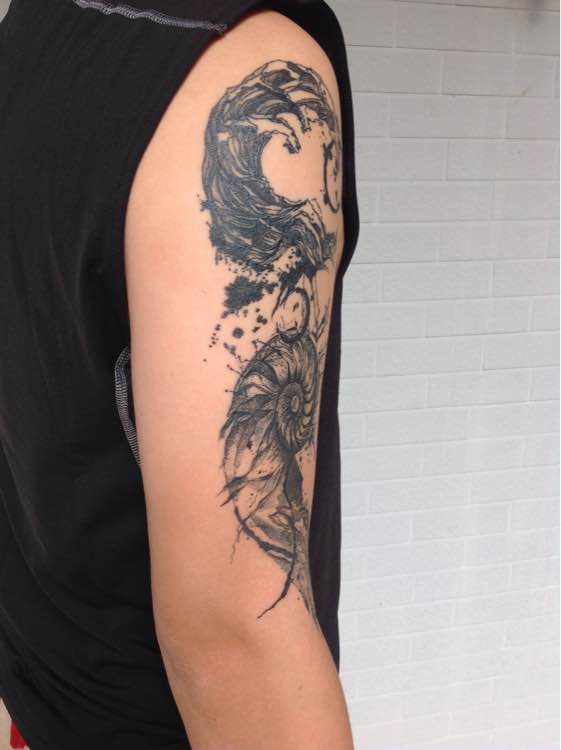 曼陀罗花纹身手稿图片