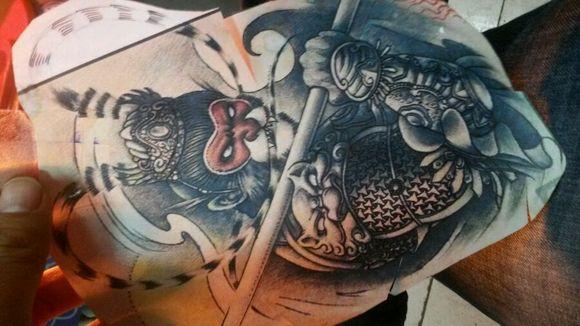 斗战胜佛胳膊纹身分享展示图片