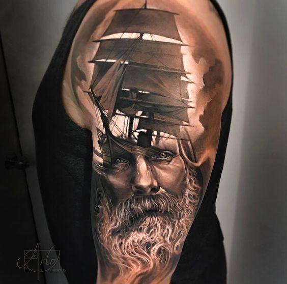 重庆刺青 转载大海霸主的魅力 海神波塞冬纹身素材图片