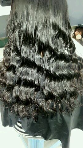 中长发发型图片水波纹分享展示图片