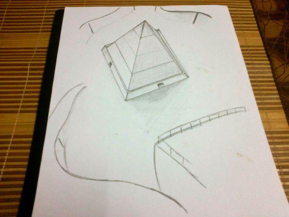我又出现了.铅笔立体画.图片