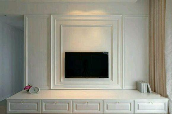 石膏线电视背景墙图片