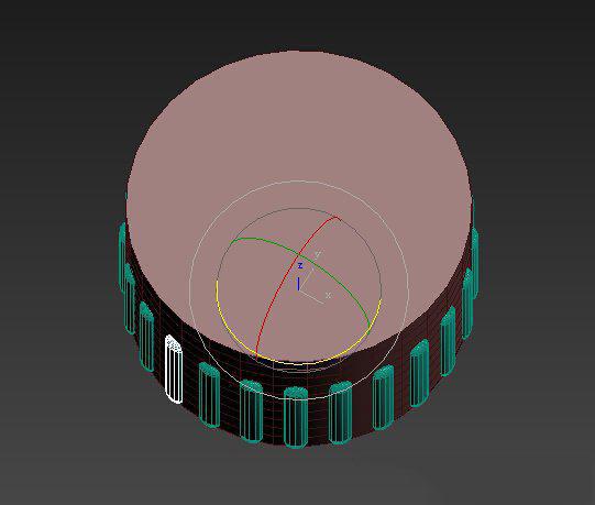 【建模】欧式罗马柱托布尔ffd综合利用图片