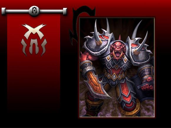 肤色变红,部分兽人身上开始长出尖刺的角,格里洛克·暗眼统领的血环