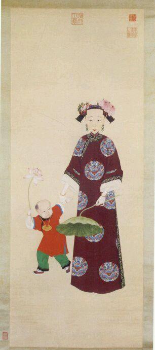 【画像】贴一些清朝后妃的画像图片