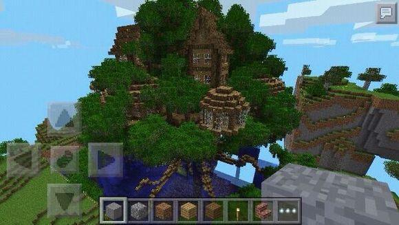 我的世界树屋设计图 儿时的梦想图片