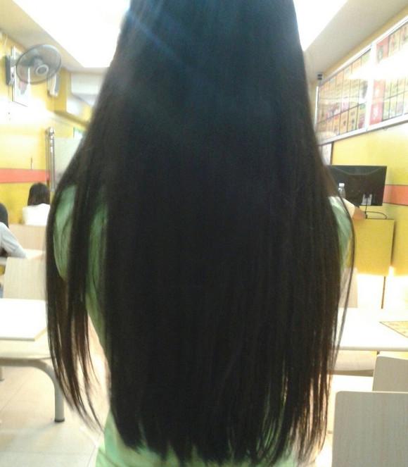 黑色长发过腰背影图片,黑色长发直发图片背影,长发直发发型图片图片