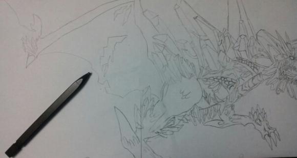 西方龙恶龙的图片 西方龙素描 西方龙的画法-华云龙的大宝贝 华云龙的图片