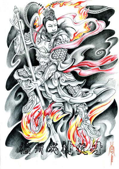 福州战神纹身纹身手稿奉献图片