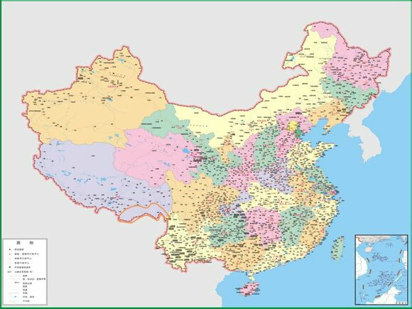 回复:国外版的中国地图,刚刚看到的