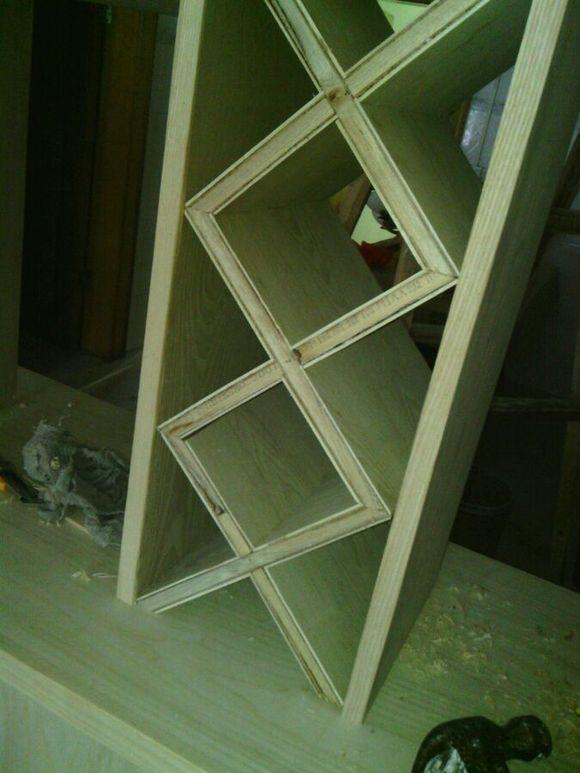 【图片】酒柜菱形格【装修木工吧】_百度贴吧图片