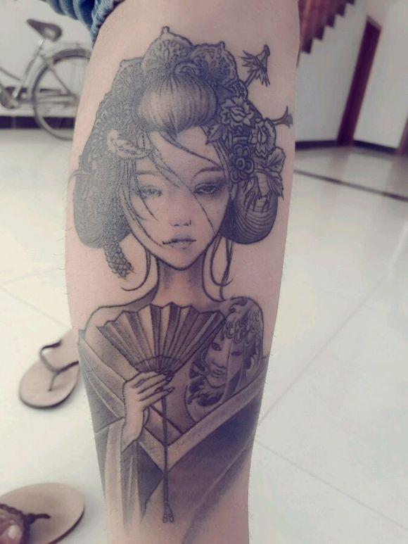 艺妓纹身图片