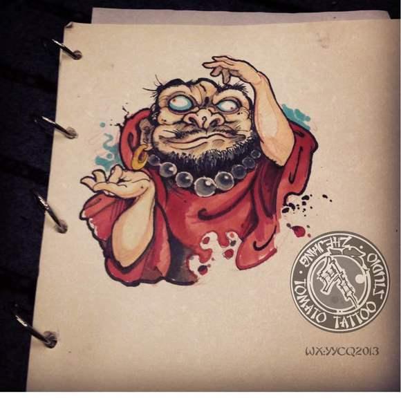 义乌《《番茄刺青》》新传统风格手稿作品整理发布,持续更新!图片