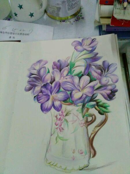超写实油画花卉 彩铅 临摹高清图片