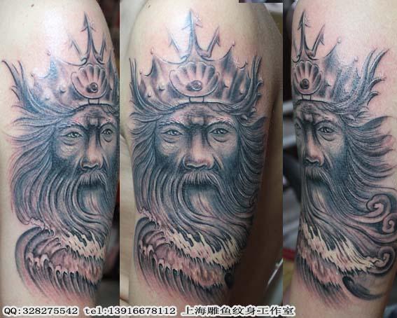 老兵波塞冬纹身分享展示图片
