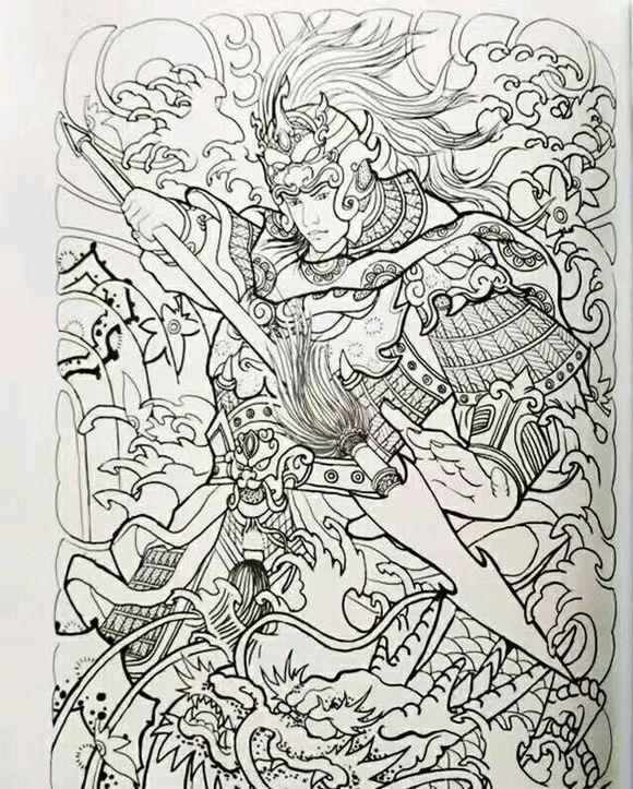 天一堂纹身手稿图片