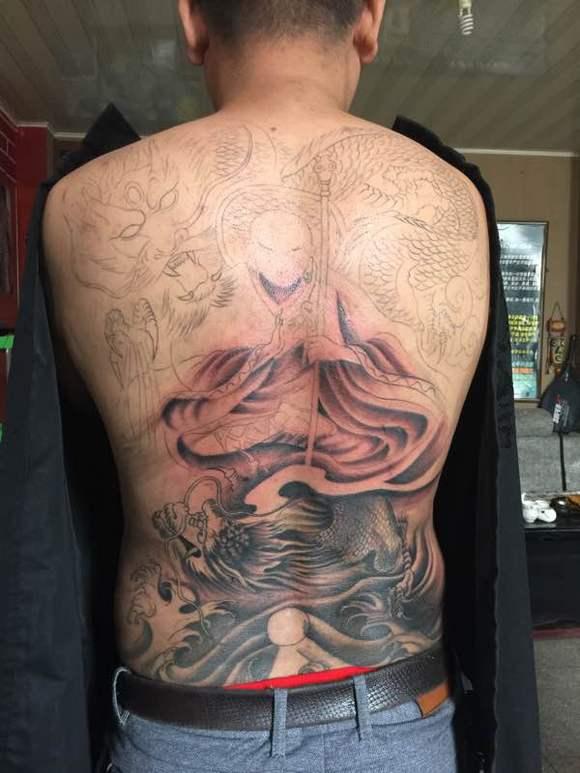 降龙罗汉纹身图案图片