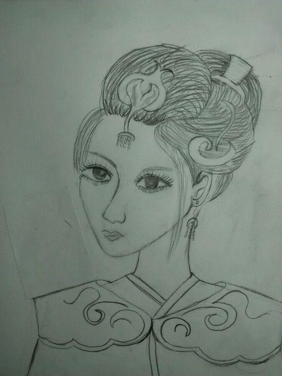 【古韵悠涵】古装美女手绘图片
