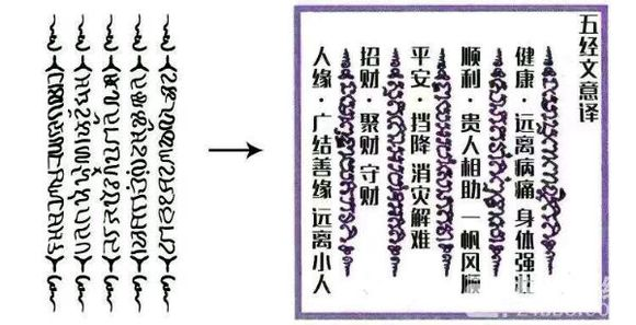 这两种五条经文有什么区别,分男女吗【纹身吧】_百度图片