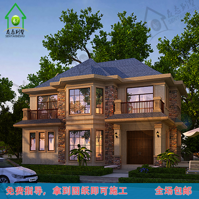农村建房图纸 三层欧式别墅复式图片
