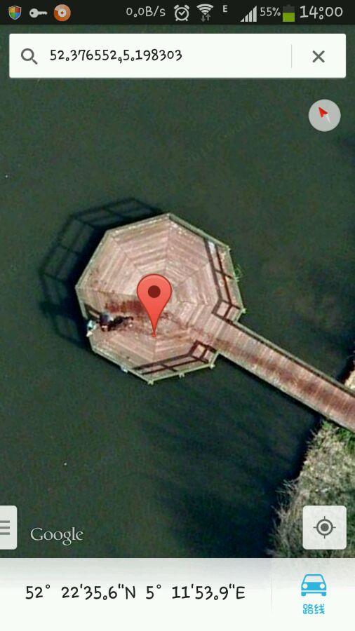谷歌地图上的恐怖坐标