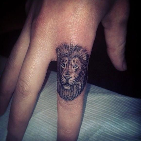 狮子头像纹身图片