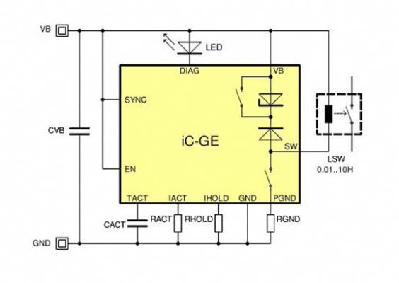 图5所示的ic-ge电路用于驱动继电器或者电磁阀,直接从36v供电,兼容图片