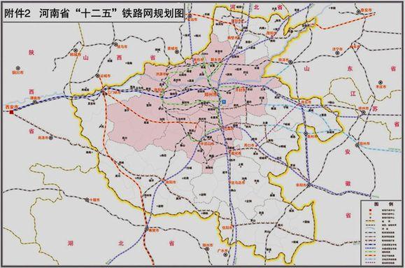 转个河南高铁城际新规划图 更有利于周口的郑合新路线 漯-周口市规