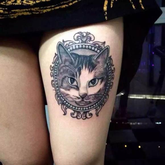 有纹身的女孩子真的不能娶图片