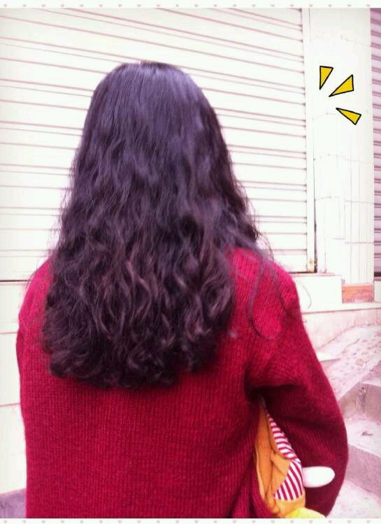 水波纹长发烫发发型图片