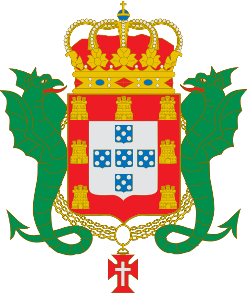 葡萄牙王国国旗和国徽图片