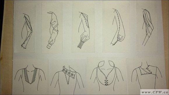 转贴:袖子领子款式设计图-其它设计设计-服装设计图片