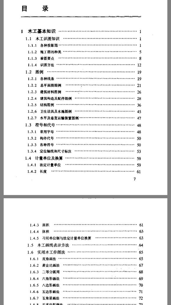 90年版木工手册,没有涉及公差精度的任何论述!图片