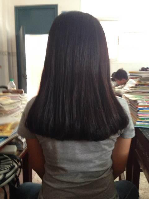 长发内扣发型图片背影分享展示图片