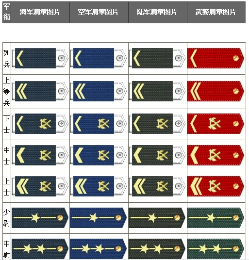 武警军衔等级图片下载 陆军军衔等级图片 cf大校军衔等级图片图片