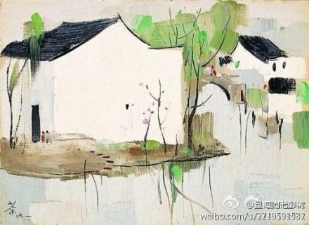 【欣赏大师】大师吴冠中油画风景作品二图片