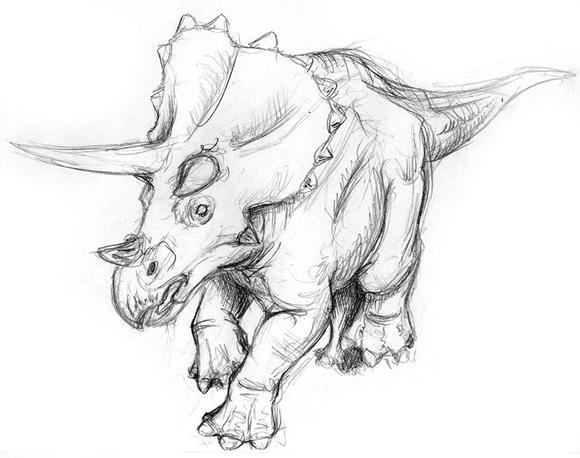 儿童简笔画恐龙三角龙分享展示图片