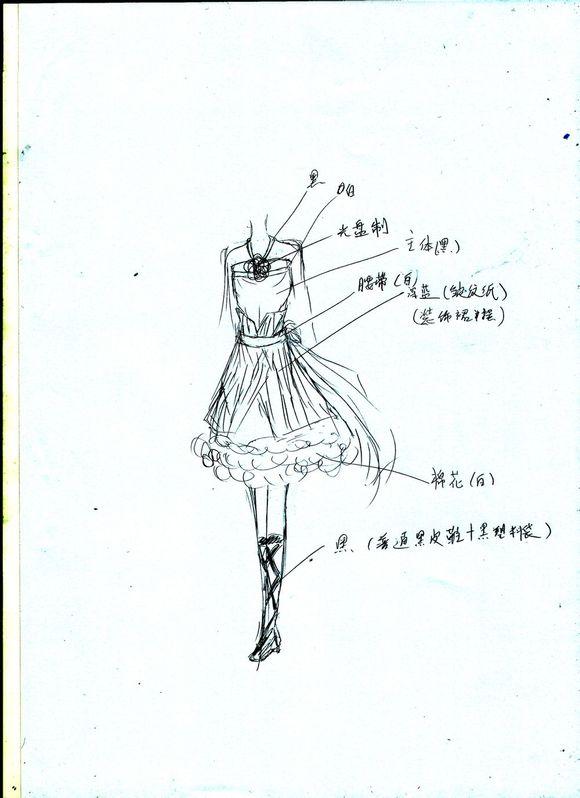 这张是学校环保时装秀服装的设计稿(喂奇怪的东西混进来了!)图片
