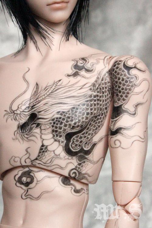 多款麒麟纹身手稿图图片
