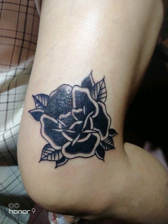 胎记遮盖纹身,玫瑰花纹身图片