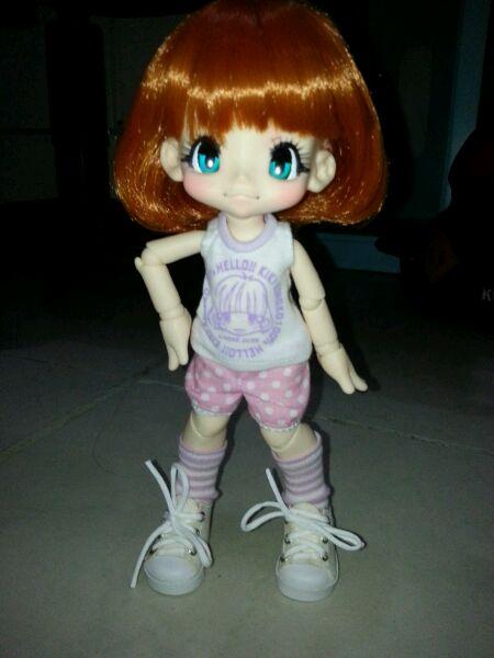 昨天买的萌孩子【kikipop吧】_百度贴吧几月的娃娃出去可以v孩子图片