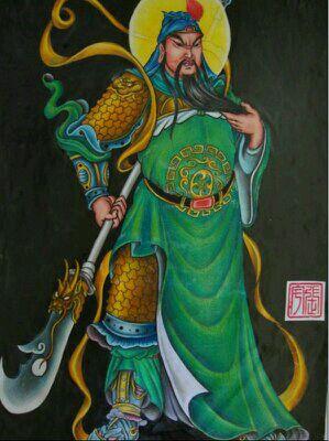 【图片】纹身关公手稿,芜湖永义堂刺青【中国纹身师吧图片