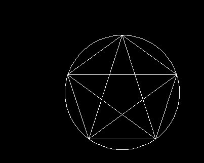 圆规画五角星的画法分享展示图片
